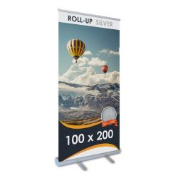 Roll-up Silver 100 cm